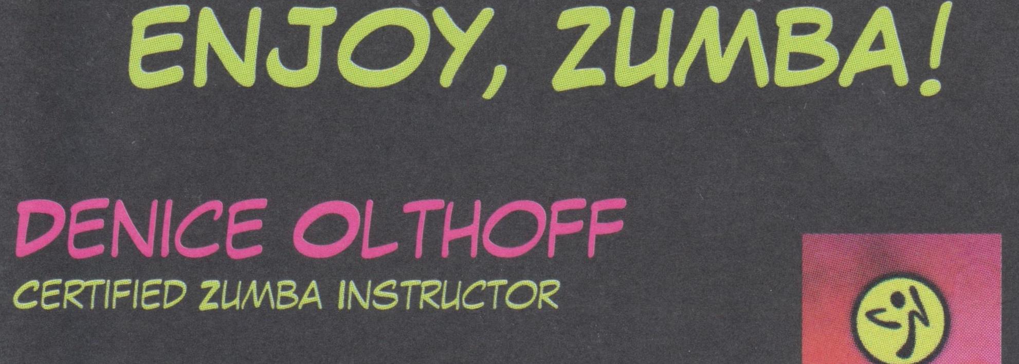 Enjoy, Zumba!